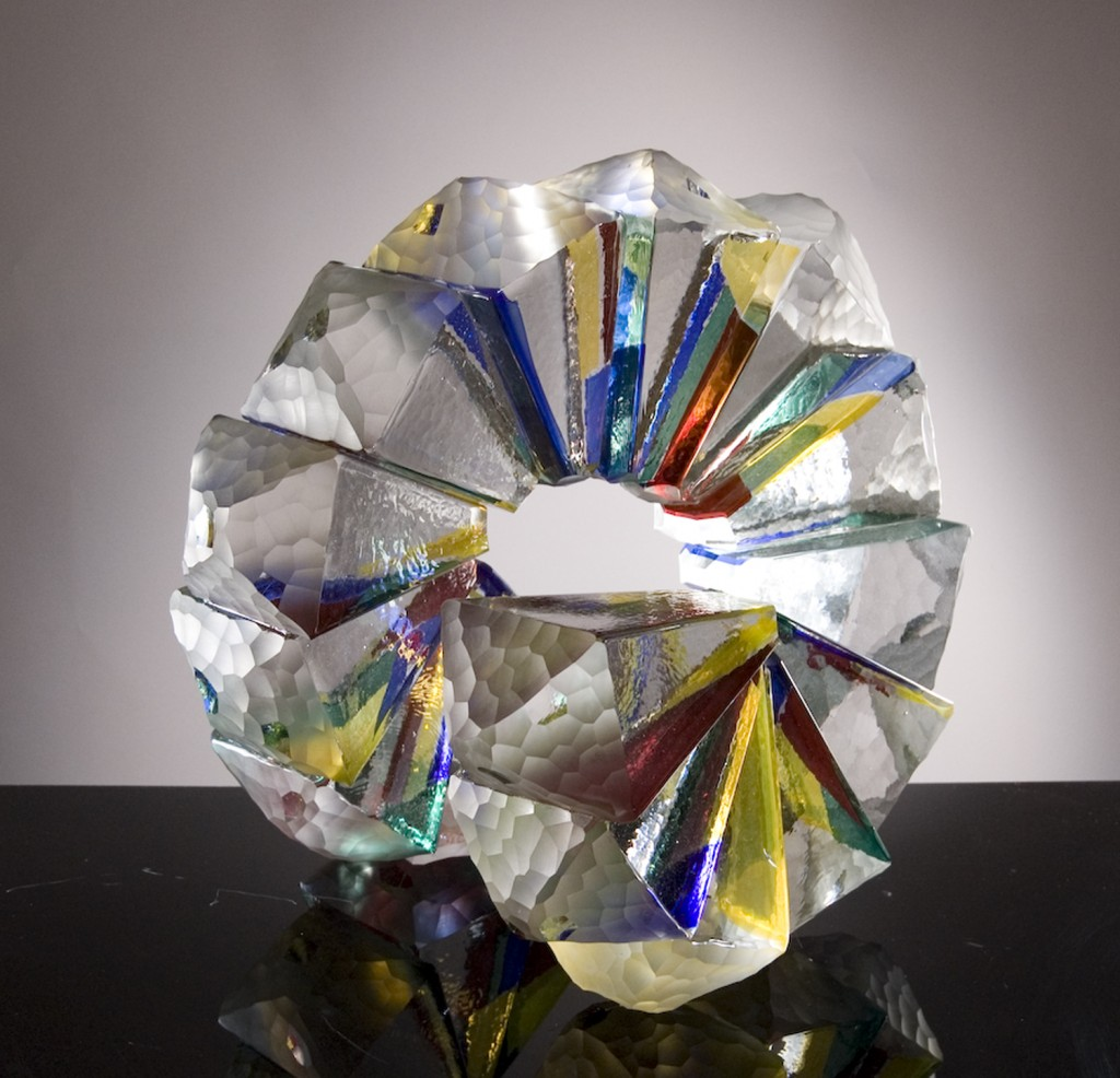 """Solid Nautical Spiral,"" 2014, Solid glass, 18 x 19.5 x 17.5 inches"