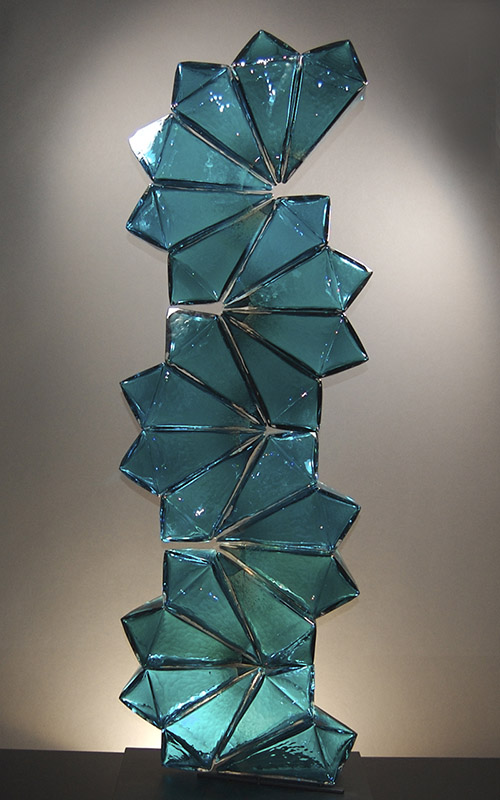 Royal_Geo14-14_AquaTowerBlush_Geometric_BlownGlass
